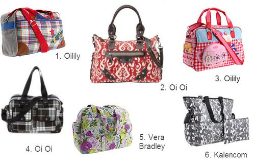 Collage baby bags